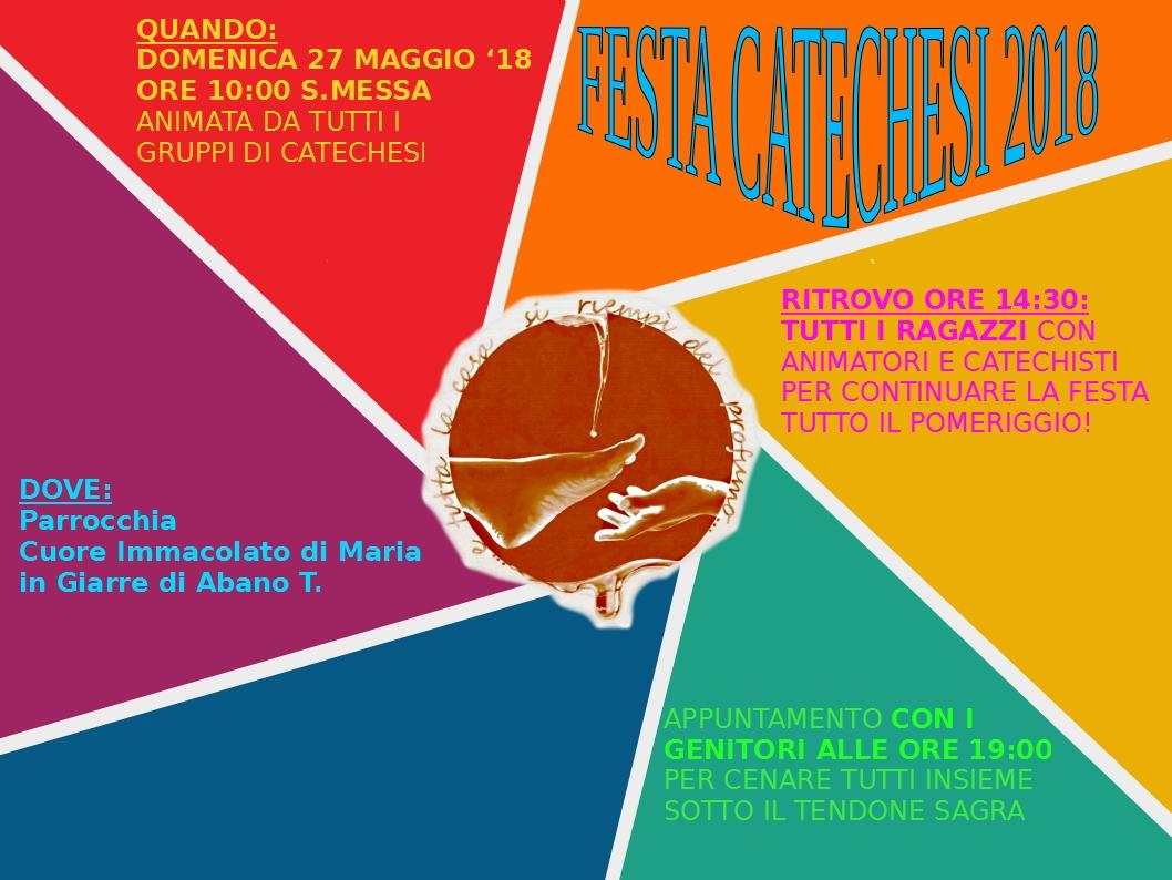 FESTA CATECHESI 2018