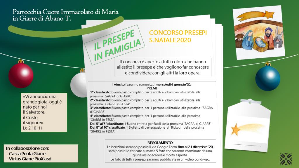 CONCORSO PRESEPI 2020